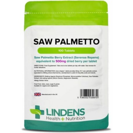 Saw Palmetto 500mg (100 tablets) [Lindens 0670]