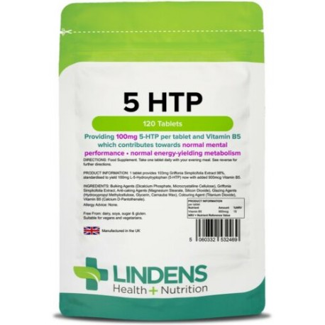 5 HTP 100mg Tablets (120 pack) - 5HTP [Lindens 2469]