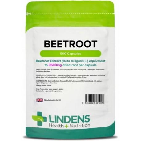Beetroot max-strength 3500mg (500 capsules) [Lindens 1097]