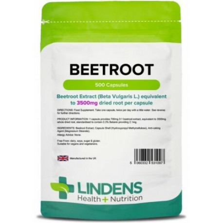 Beetroot max-strength 3500mg (500 capsules) [Lindens 1097]