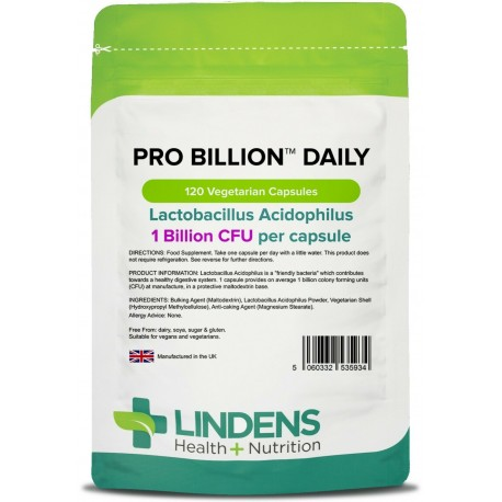 Lindens Pro Billion Daily Capsules (was Probiotic Daily) (120 pack) 1 bn CFU