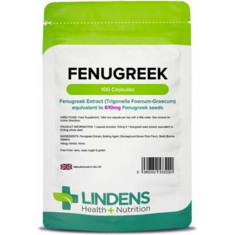 Lindens Fenugreek Seed 610mg Capsules (100 pack)