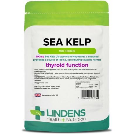Kelp Seaweed 500mg one-a-day Tablets (100 pack) [Lindens 1790]