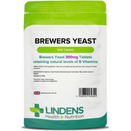 Brewers Yeast 300mg Tablets (500 pack) [Lindens 2322]