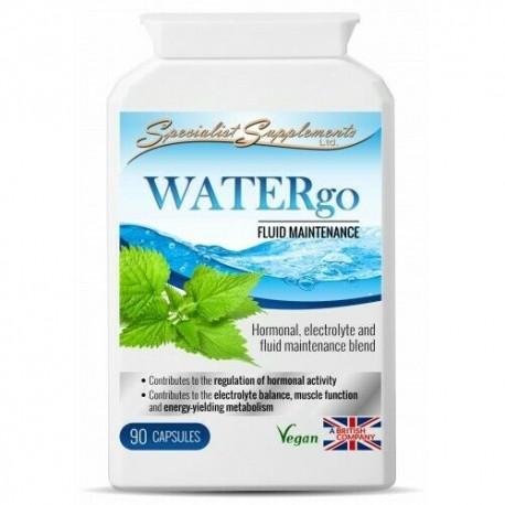 WATERgo 90 Herbal Formula, 4 Detox Healthy Fluid Balance Water Retention [SS]