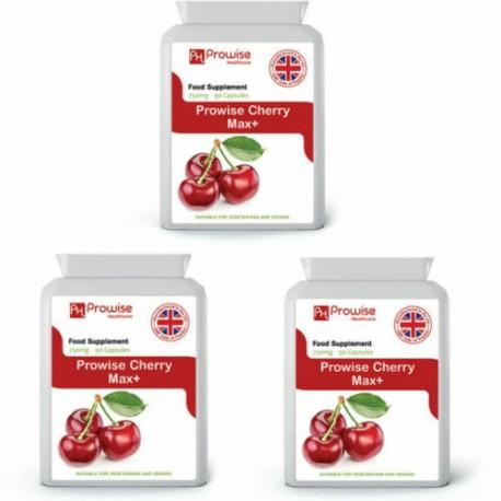 Prowise Cherry Max 750mg 90 Vegan Vegetarian Capsules Pack of 3