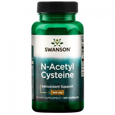 Swanson N-Acetyl Cysteine 600 mg 100 Capsules x 2 Pack