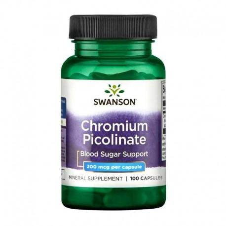 Swanson Chromium Picolinate 200mcg 100 Capsules x 3 Pack