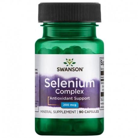 Swanson Selenium 200mcg 90 Capsules x 3 Pack