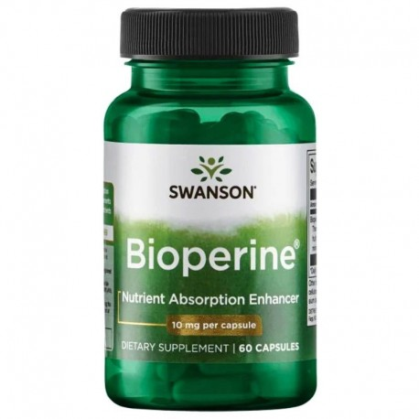 Swanson Bioperine Nutrient Absorption Enhancer 10mg 60 Capsules x3 Pack